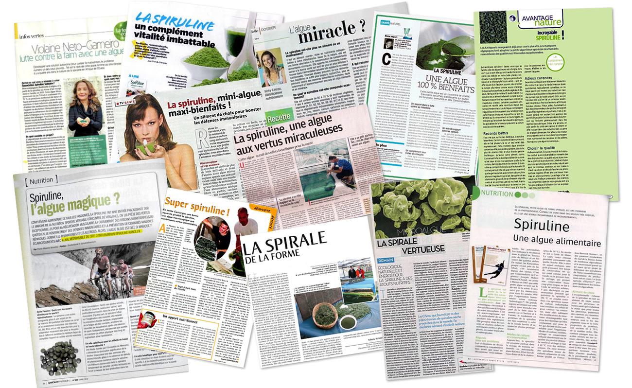 Articles de presse sur la spiruline