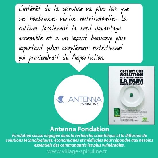 La spiruline, une solution contre la faim avec Antenna
